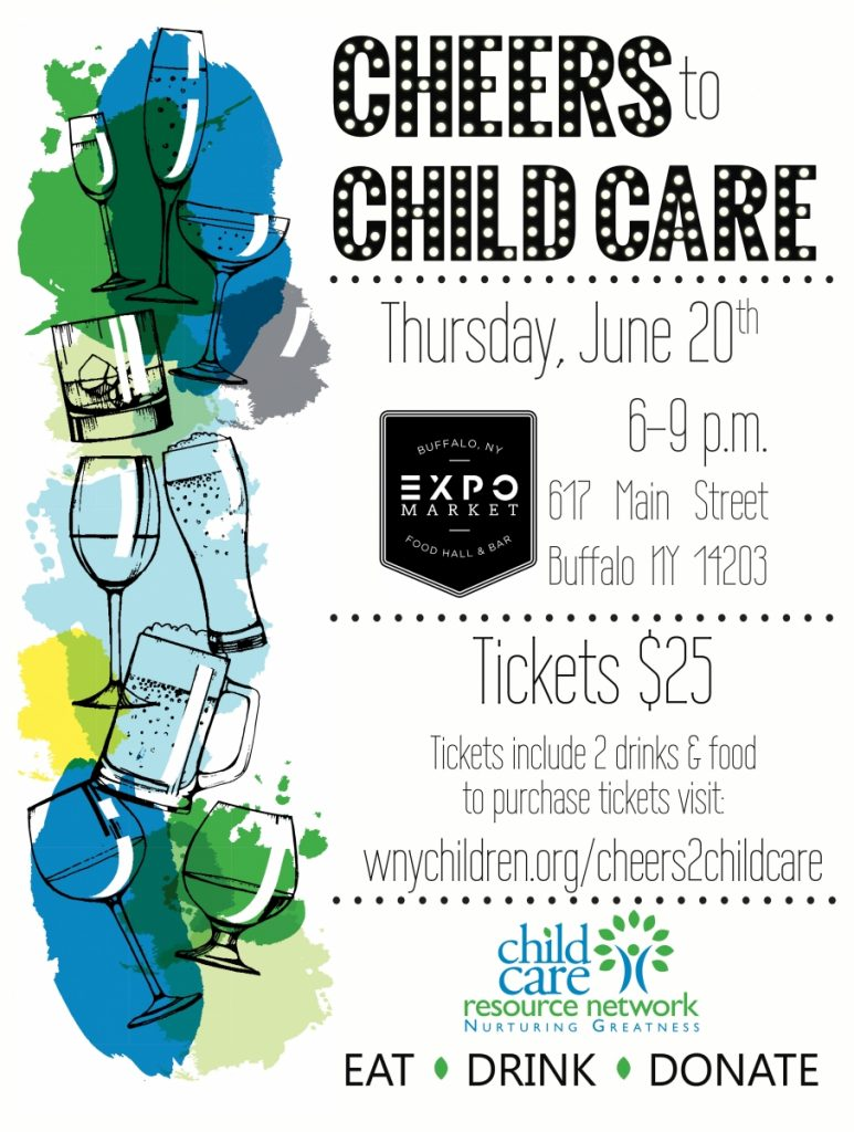 Cheers to Child Care poster