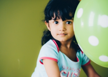 A child with a balloon