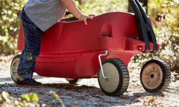 Child with a wagon
