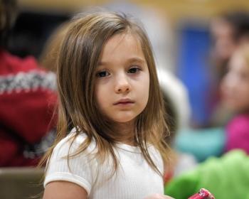 A sad-looking child