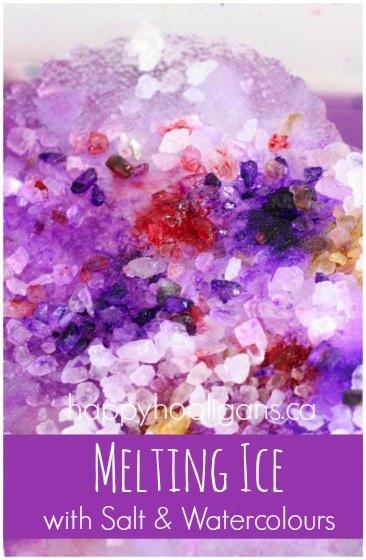 Salt & ice watercolors